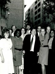 Jennifer LaBonte, Gary Edles, Jean Comrad, unknown,Charles Pou, Dorothea Collins, Diane Stockton, Jeffery Lubbers, Marshall Breger, William Olmstead, Susan Mack, Brian Murphy, Eunice Butler, Candy Fowlerr, Karyn Zaayenga, David Pritzker, unknown.